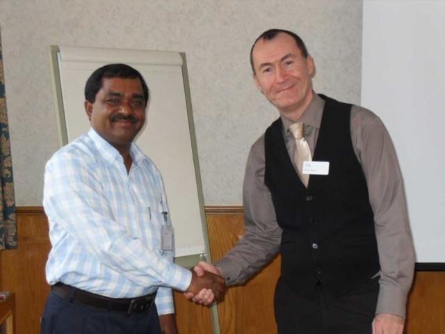 N. Devchandra Singh with Mr Jack, Internal Verifier from IOSH